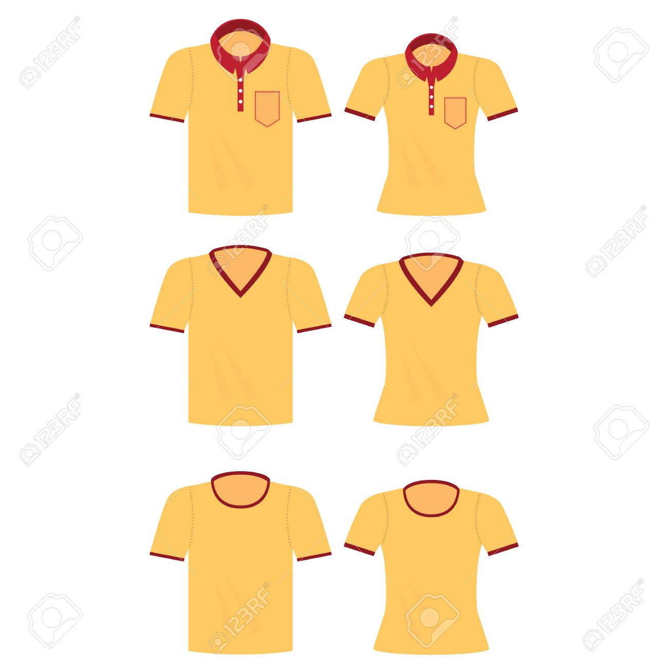 f40af61f9c Yellow shirt for men and women, Polo shirts template, T-shirts, fashion