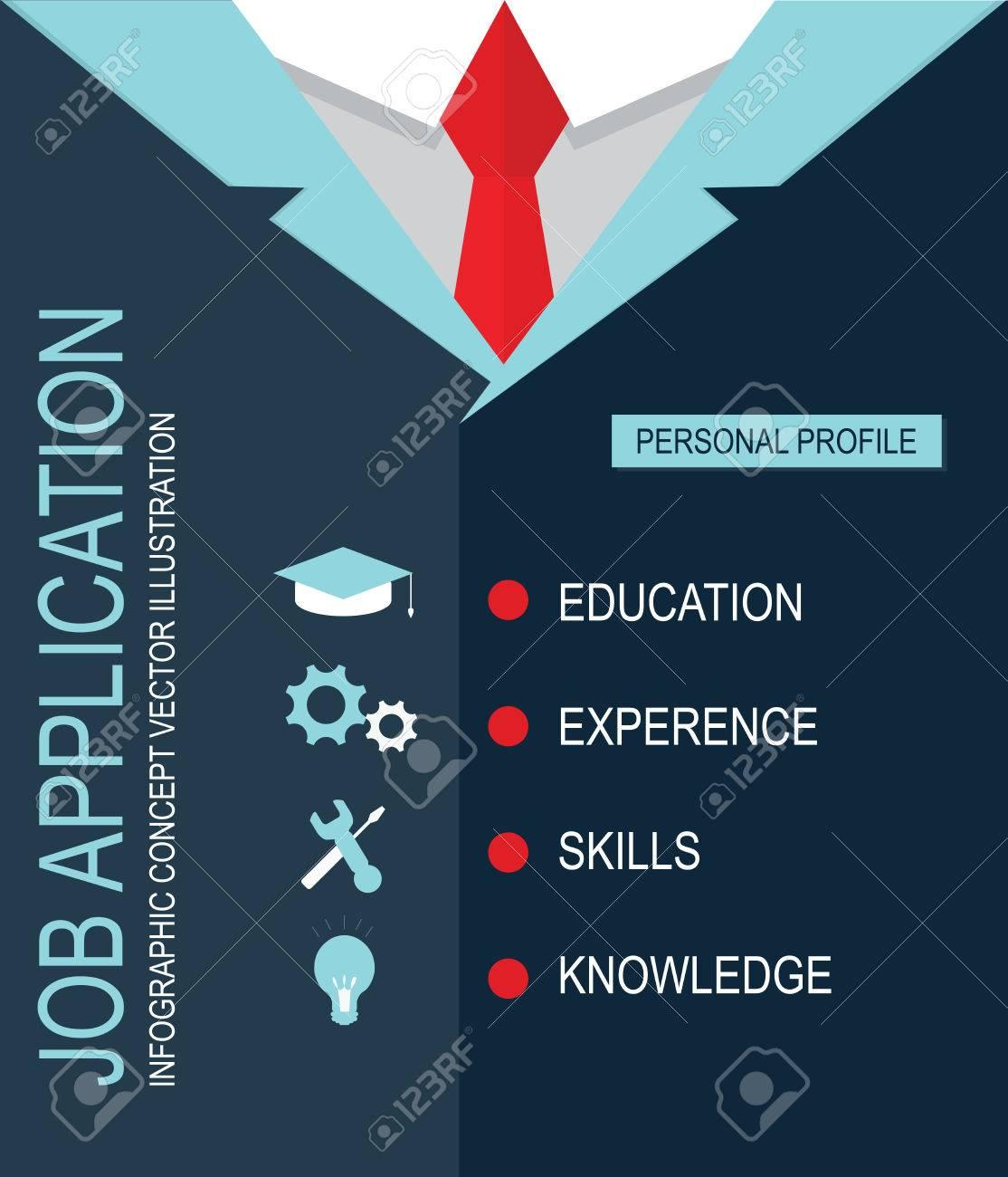 Solicitud De Empleo, Educación CV Perfil Personal, El Conocimiento ...
