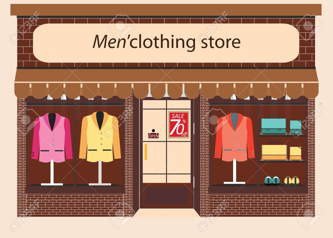 Clothing Store Boutique Indoor Of Mens Cloths Fashion Tailor Shop Exterior Building