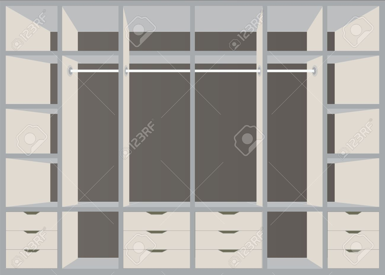 Diseo De Interiores De Armarios Perfect Armarios A Medida En Tres