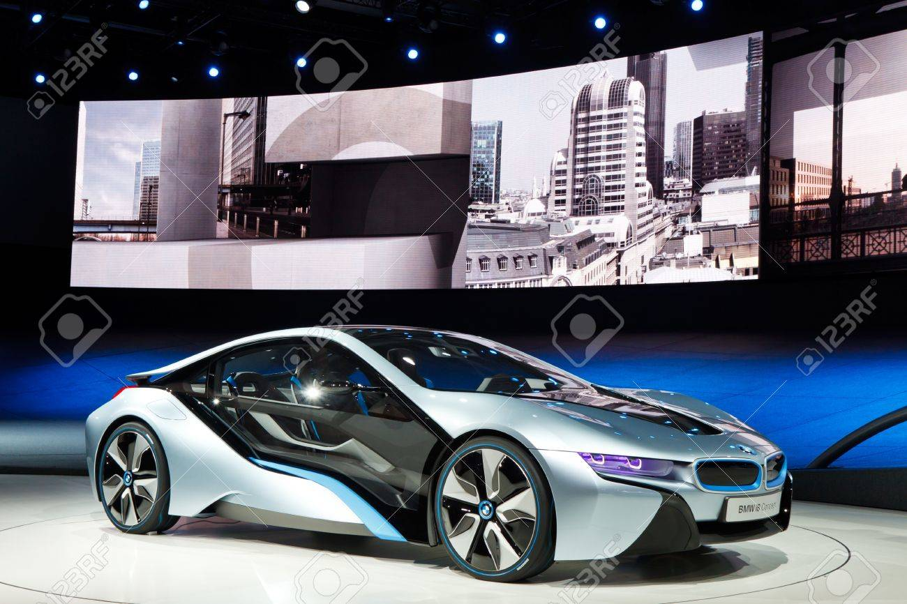 Frankfurt Sep 24 Bmw I8 Concept Car Shown At The 64th Iaa Stock
