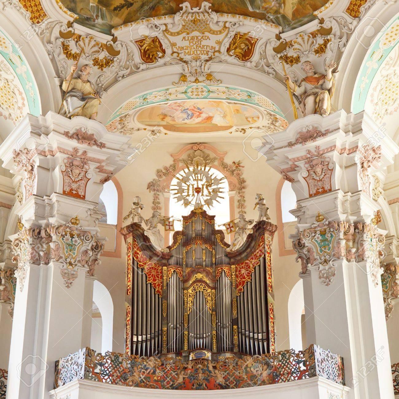 Baroque church organ in Steinhausen, Germany. Stock Photo - 17262489