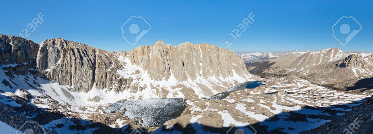 Mount Hitchcock Panorama - High Sierra scenery viewed from Mount Whitney. Stock Photo - 17386677