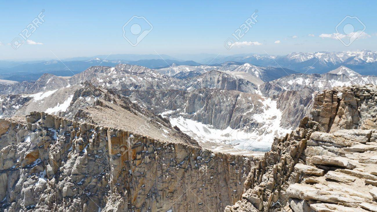 Mount Whitney Summit Scenery. View from the highest peak in the continental United States. Stock Photo - 17386665