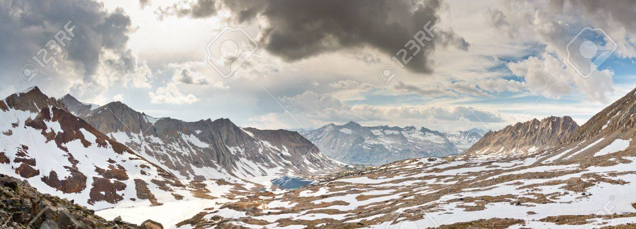 Kings Canyon Panorama at Pinchot Pass, Sierra Nevada, California, USA Stock Photo - 18024929