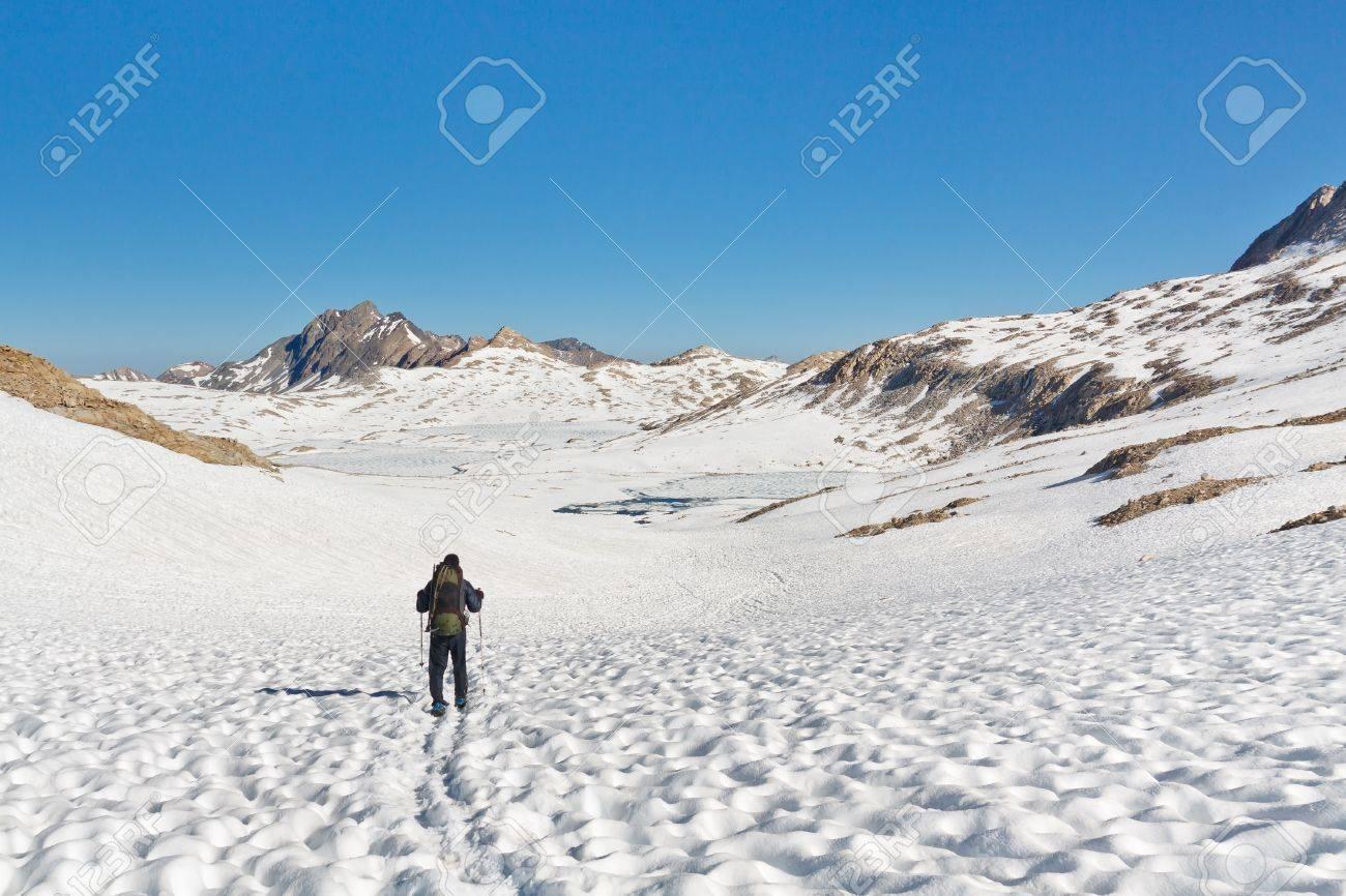 Hiking in the stunning alpine scenery in the Sierra Nevada, California, USA Stock Photo - 19580275