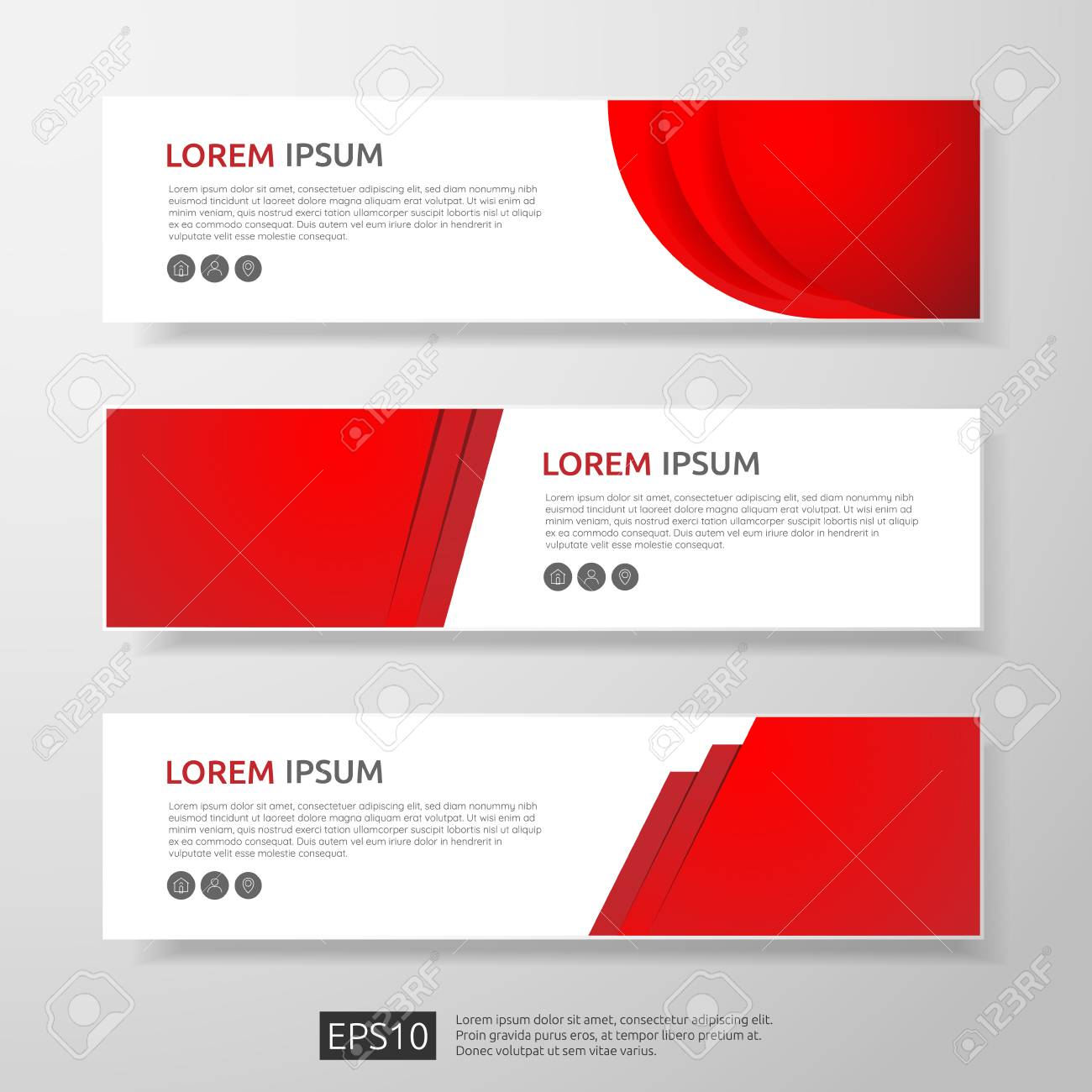 Abstract business header or banner template set with geometric abstract business header or banner template set with geometric shapes vector illustration stock vector cheaphphosting Choice Image
