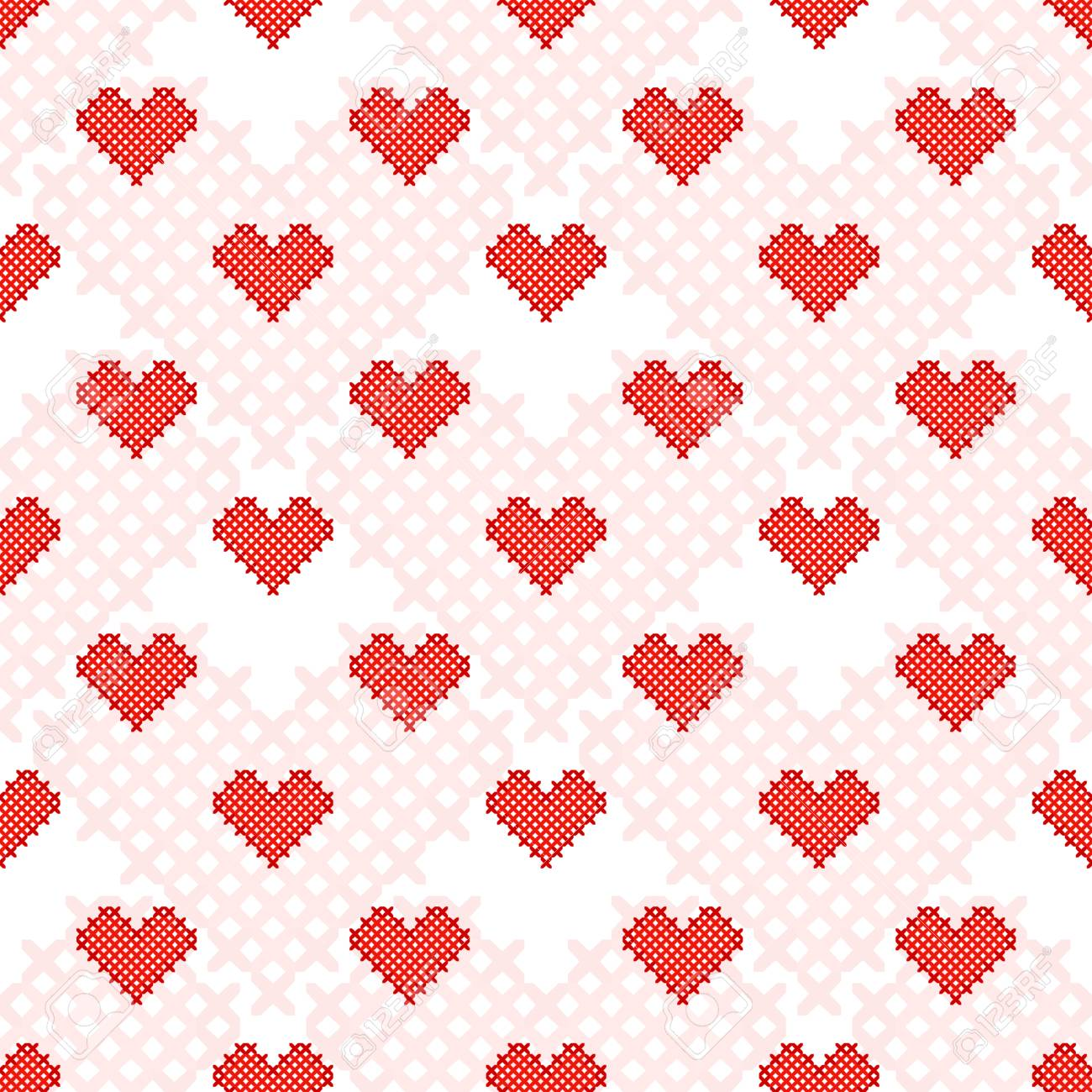 Fantástico Patrón De Corazón Libre De Punto Ornamento - Manta de ...