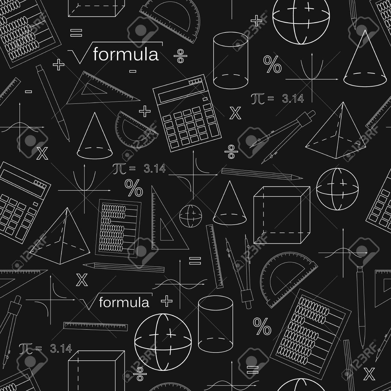 Matita Senza Soluzione Di Continuit Modello Nero Stile Lineare Uzi Schematic Conoscenza Della Matematica E Geometria Le Forme Geometriche