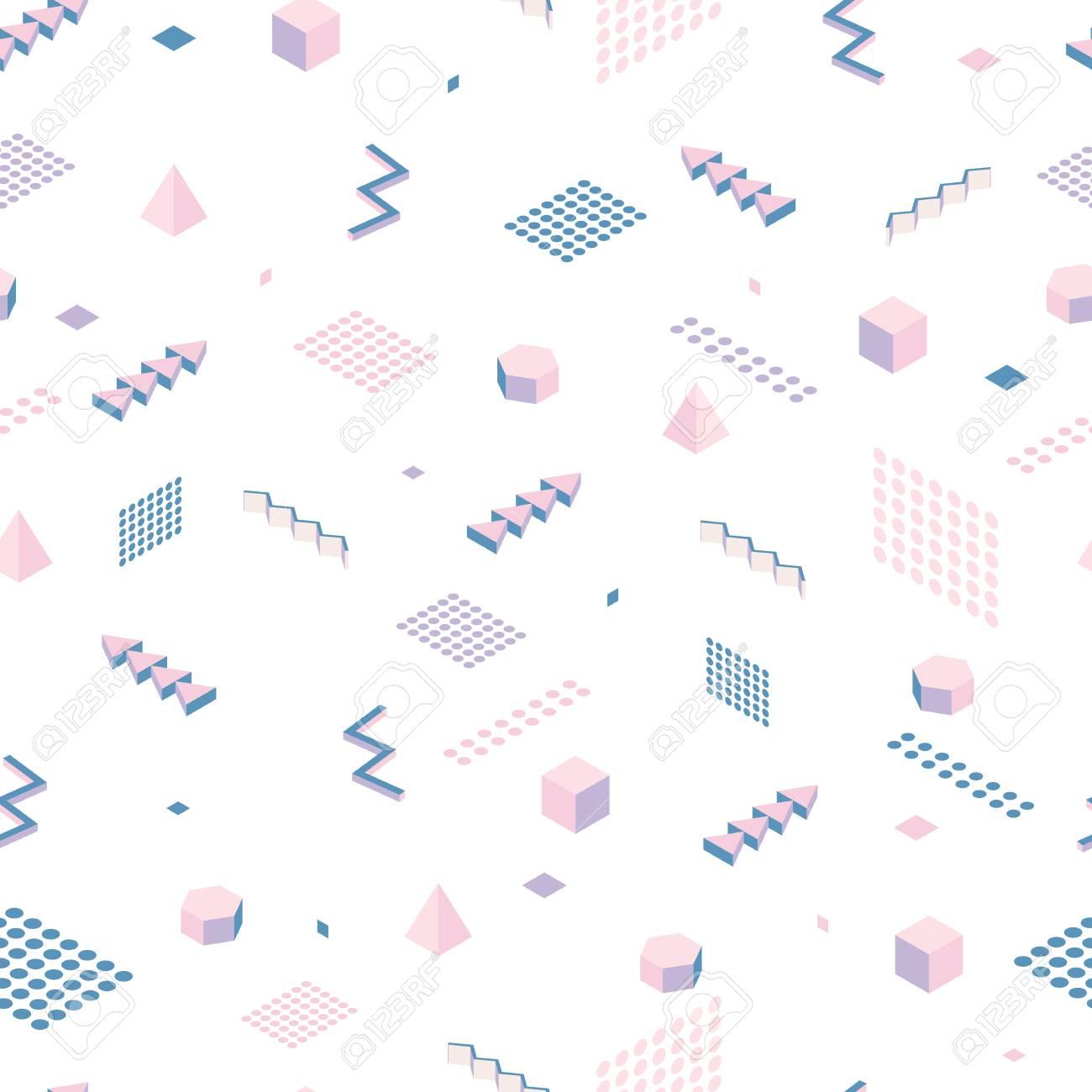 Resumen De Patrones Sin Fisuras. Isometría Geométrica Formas Simples ...