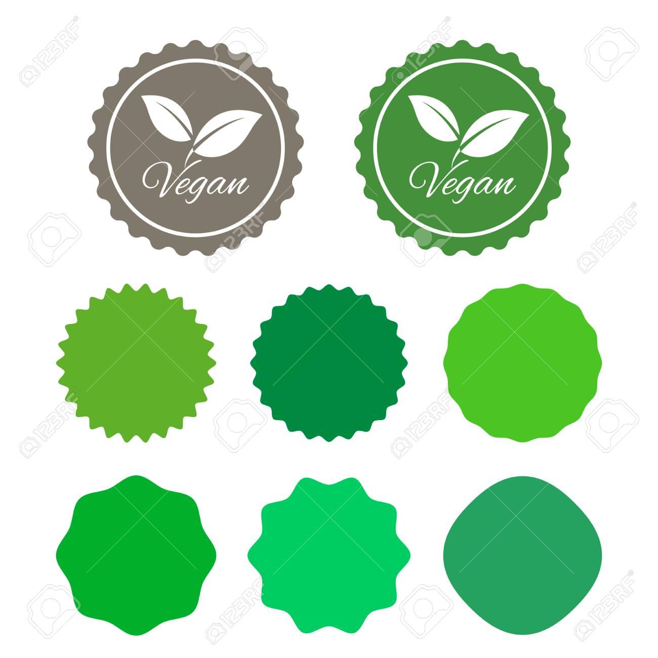 Vegan stickers design template set