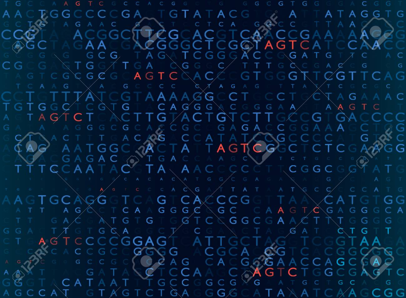 DNA sequencing by the formula AGTC. modern medical background. vector illustration - 104347060