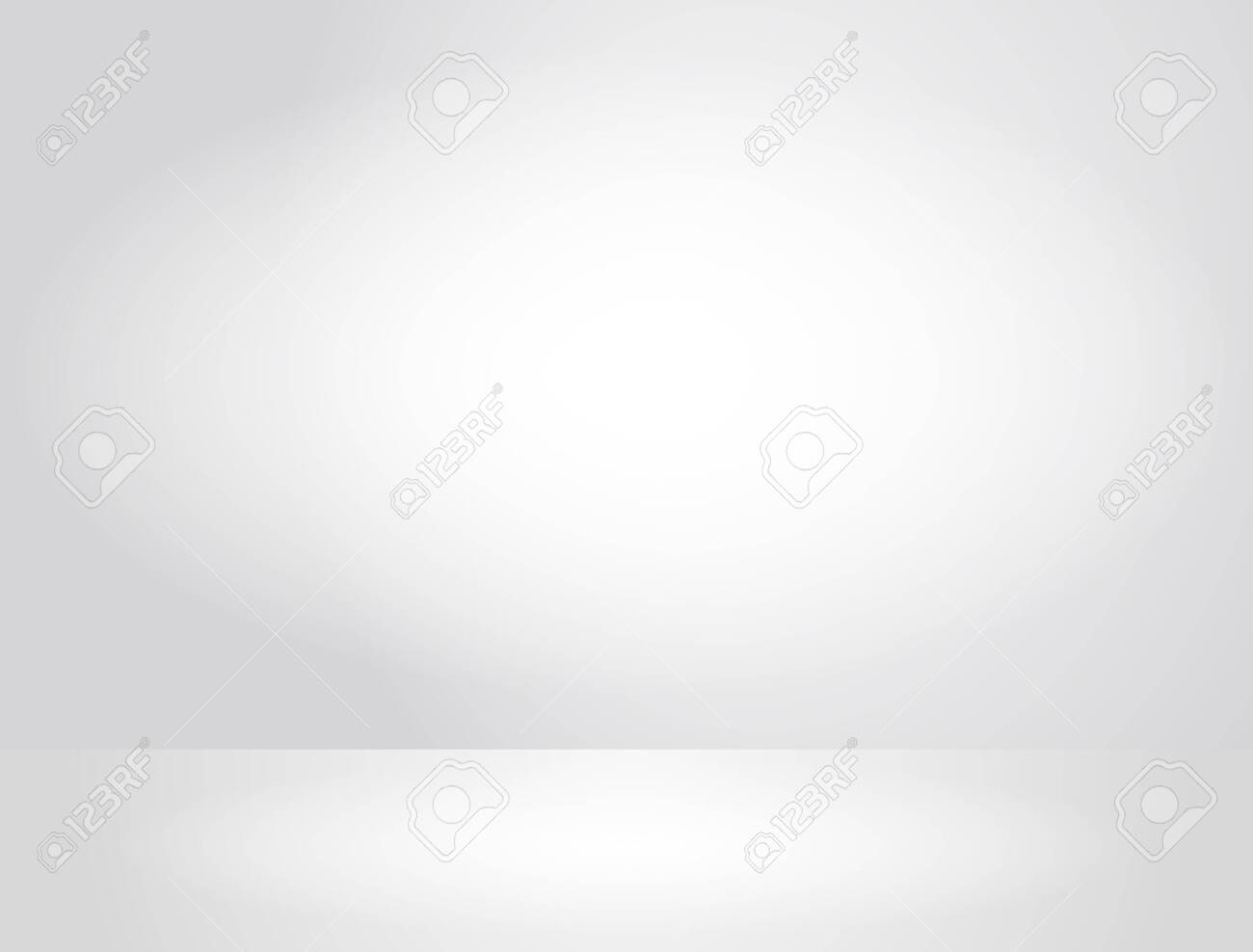 realistic template of a white wall and empty space with soft light. - 137682807