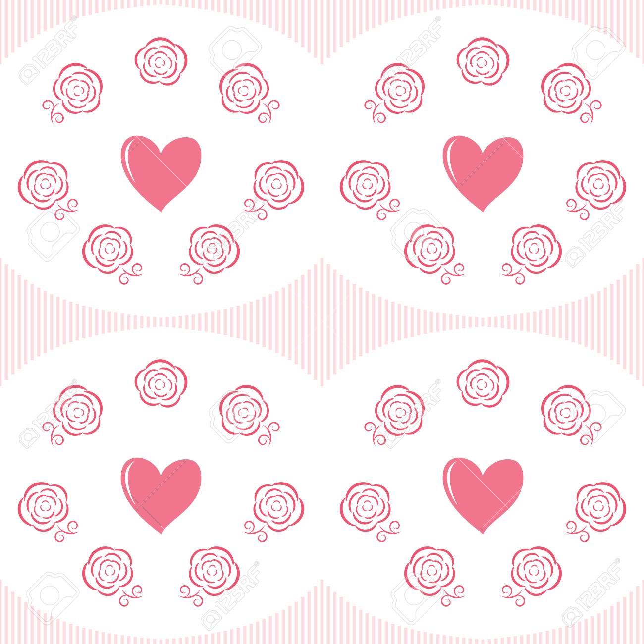 Super Brillante De Colores Forma De Corazón Flores Y Rosas Día De