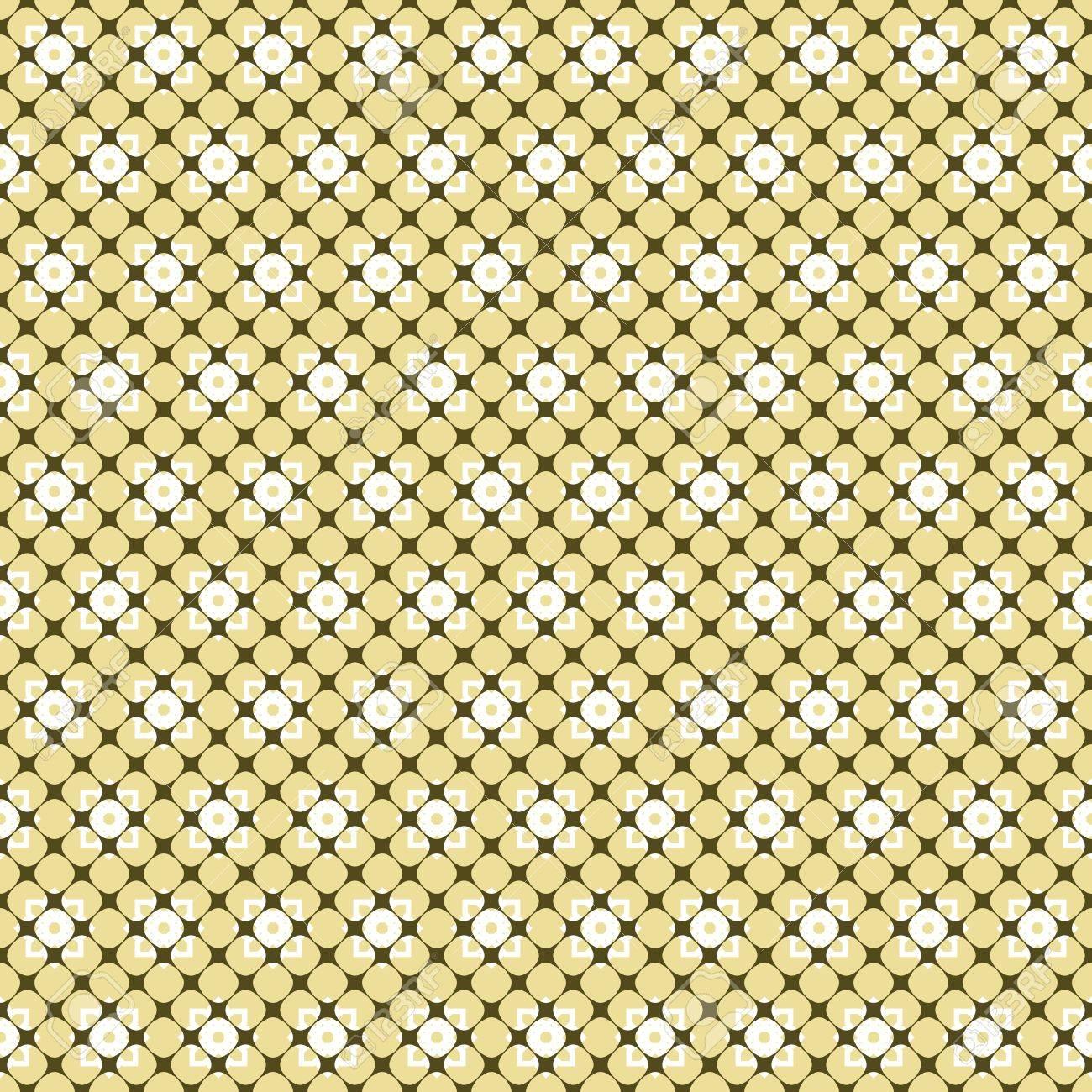 Astratto Modello Senza Soluzione Di Continuità Su Cellulare Scolpita Sfondo Fiori Giallo Bianco I Colori Verde Oliva Scuro Stampa Senza Fine Ed