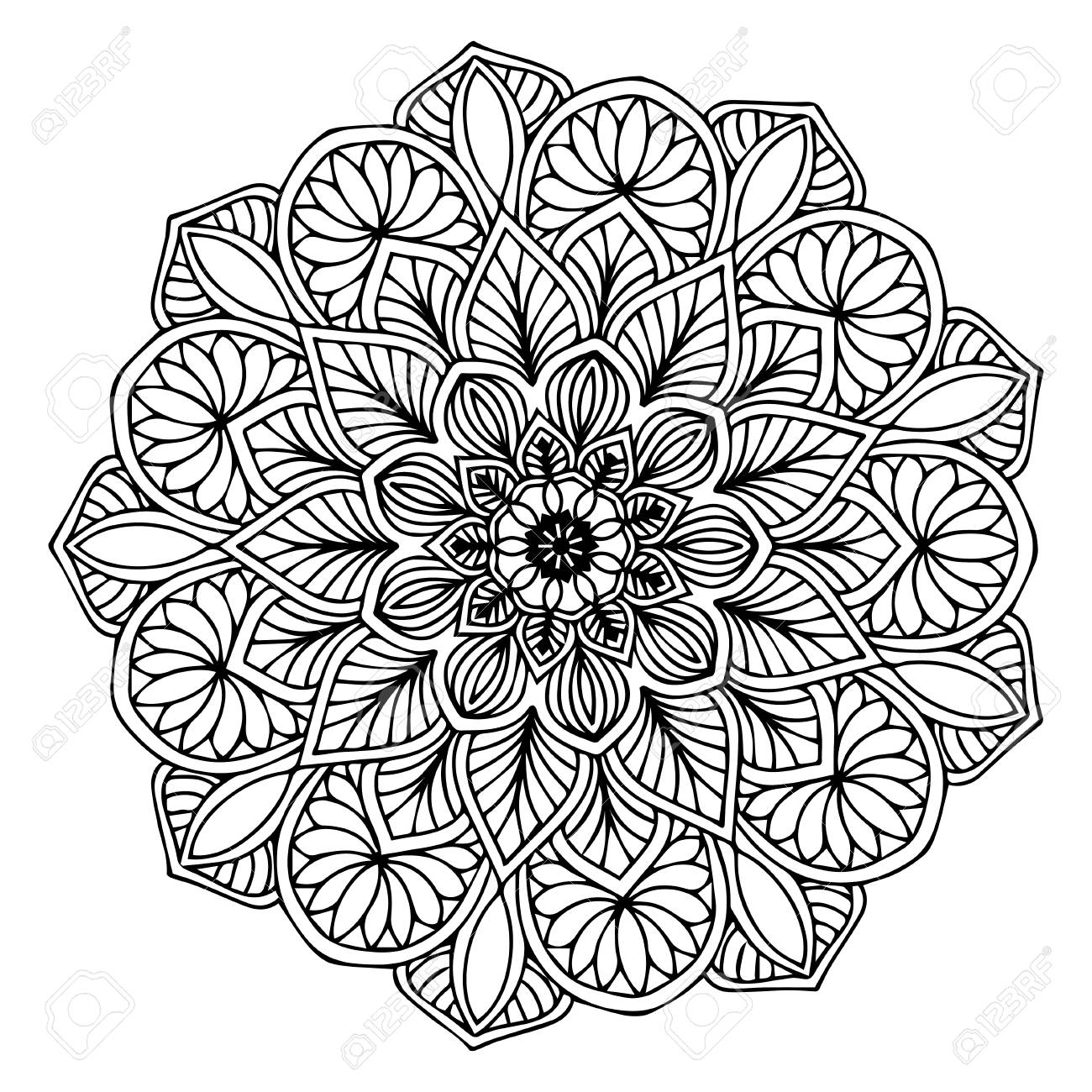 Mandalas for coloring book. Decorative round ornaments. Unusual flower shape. Oriental vector, Anti-stress therapy patterns. Weave design elements. Yoga logos Vector. - 102145724