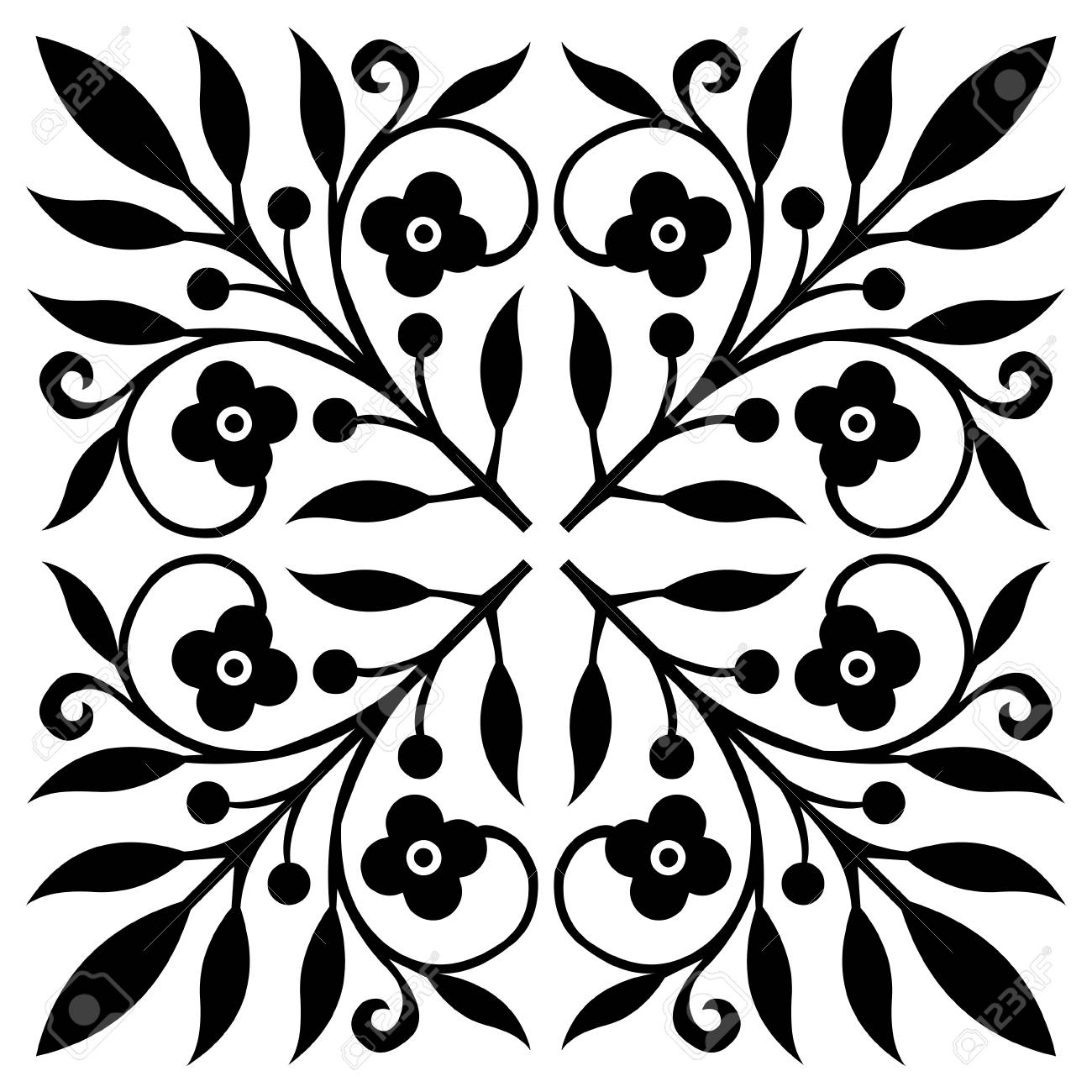 Floral Pattern Royalty Free Cliparts, Vectors, And Stock ...