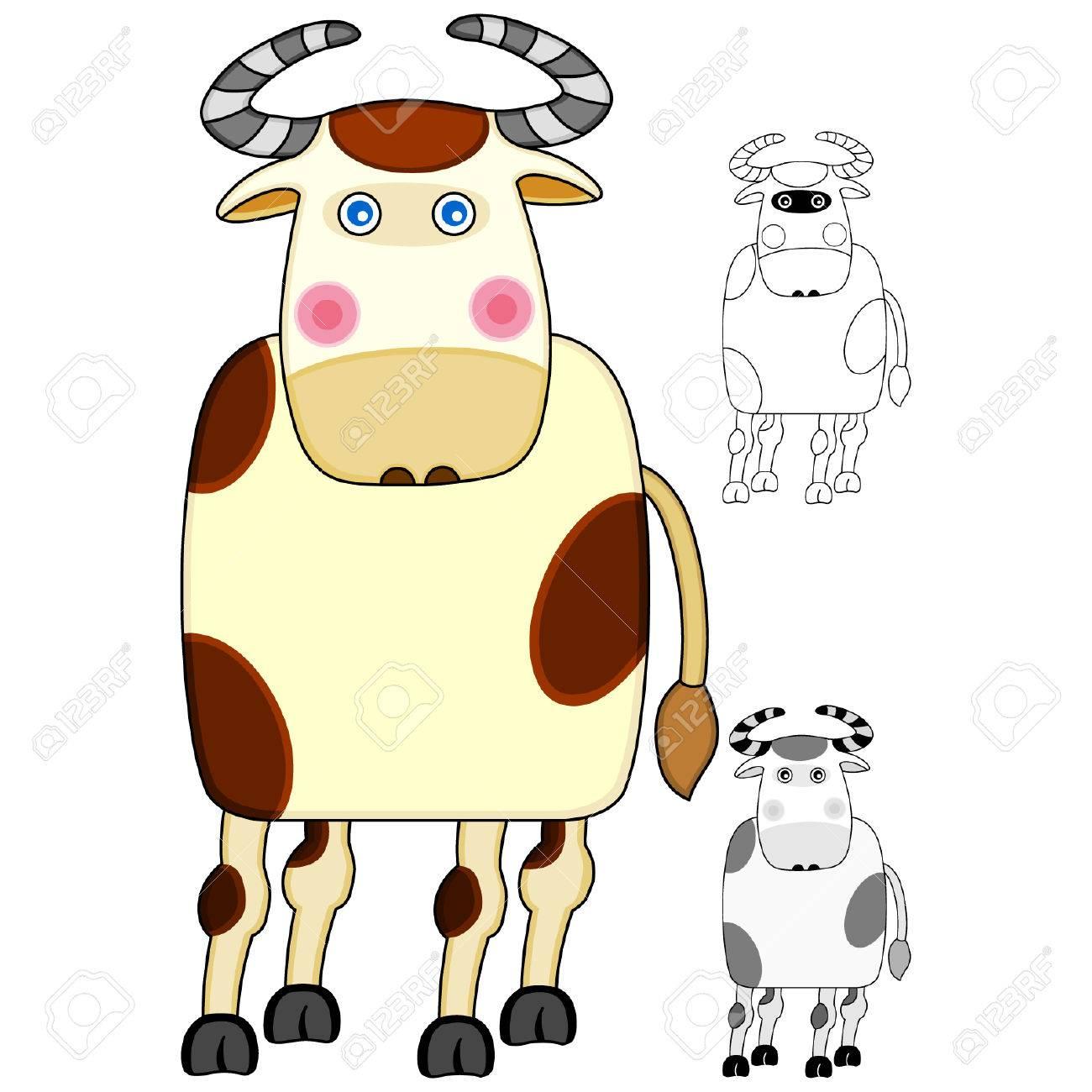 Cow Stock Vector - 4062664