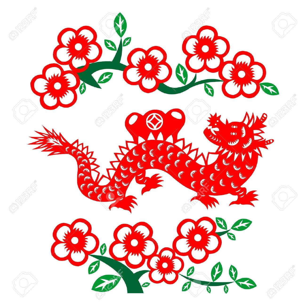 chinese new year dragon 2012 stock vector 11654955 - Chinese New Year 2012