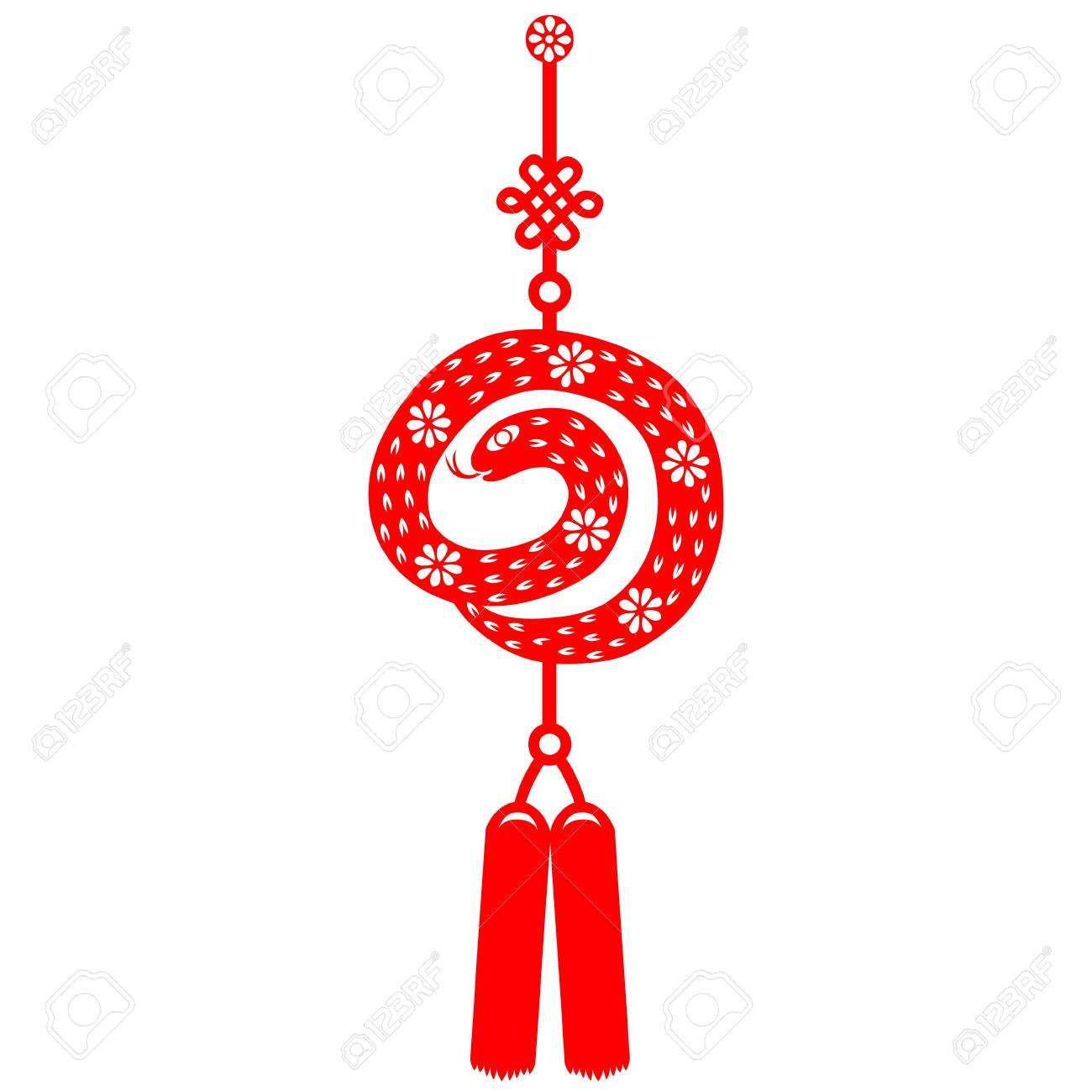 Chinese New Year Snake Stock Vector - 16795396