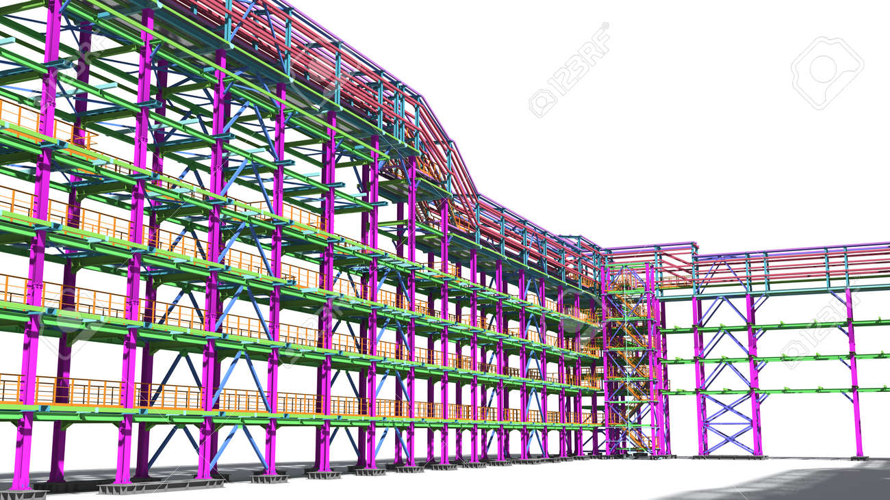 Presentation of the BIM model for the construction customer and contractor. Development of project drawings based on the BIM model. 3D rendering. - 151047738
