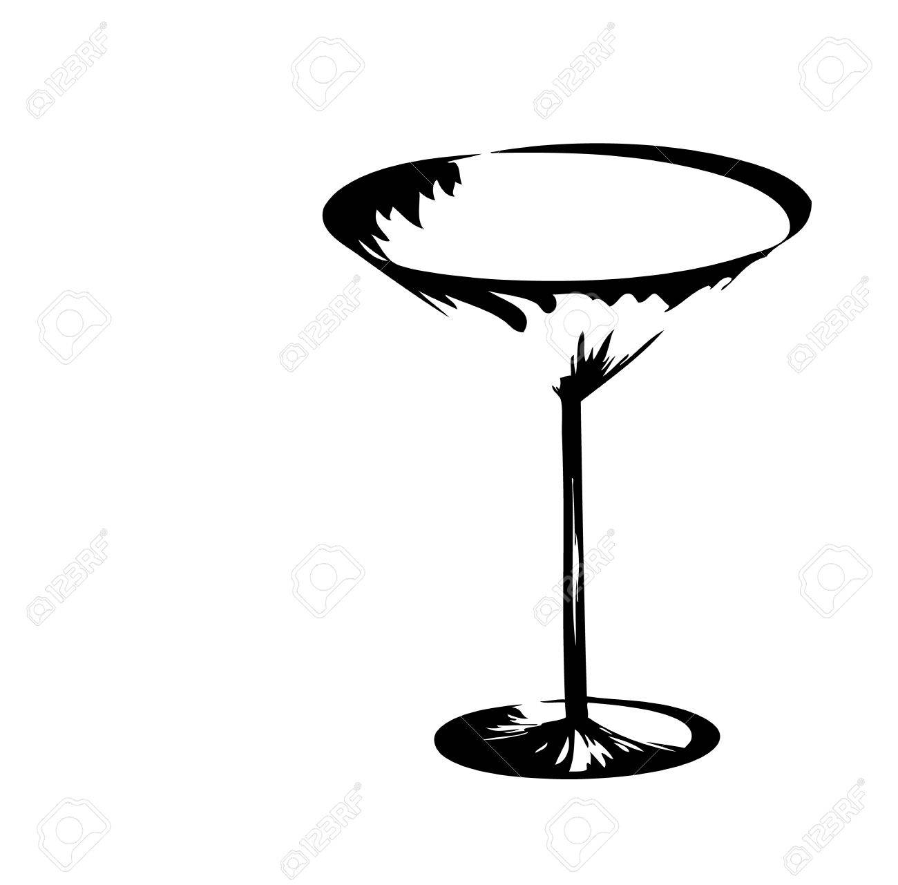 The stylized wine glass for fault Stock Vector - 5702957