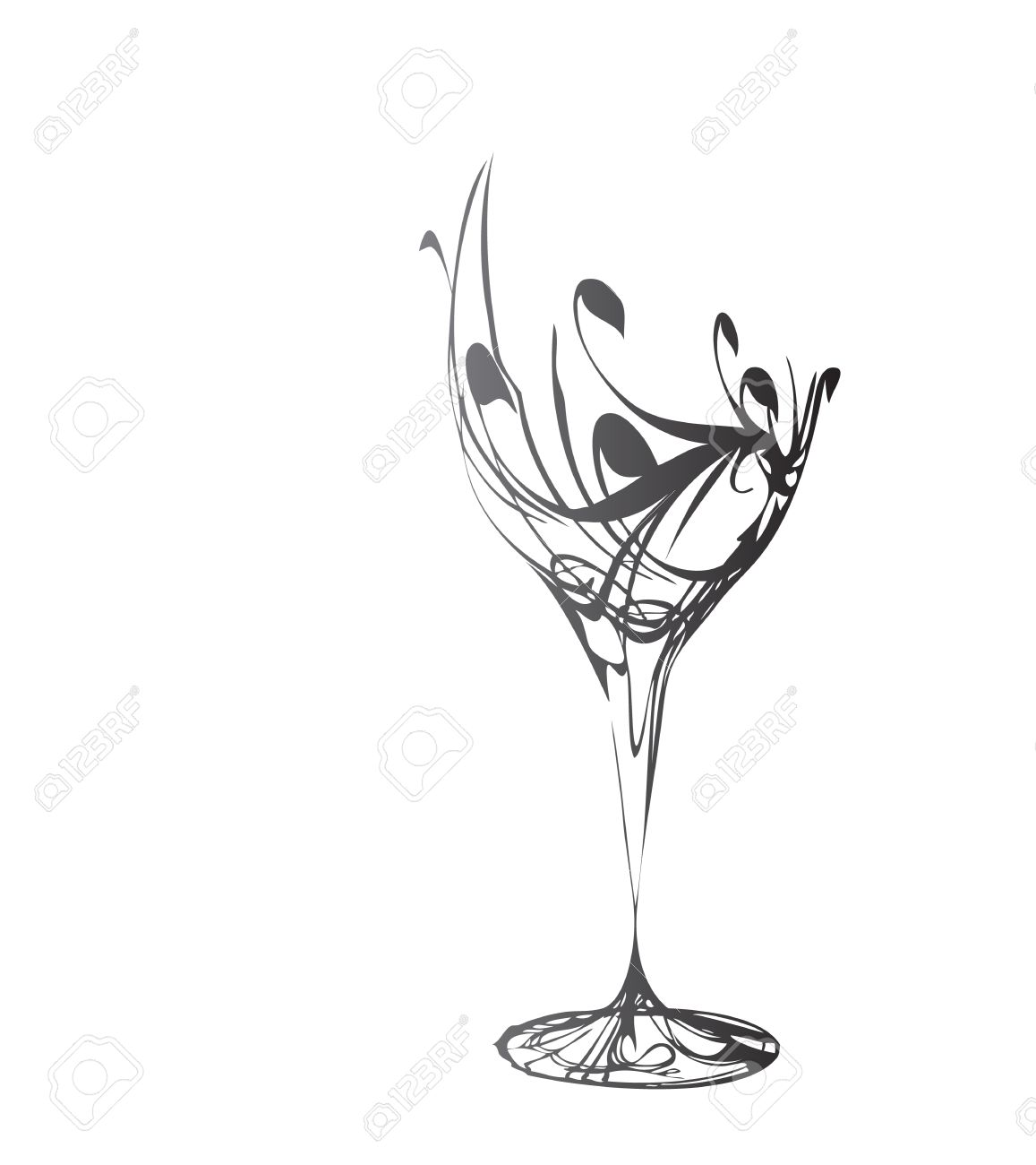 The stylized wine glass for fault Stock Vector - 5702973