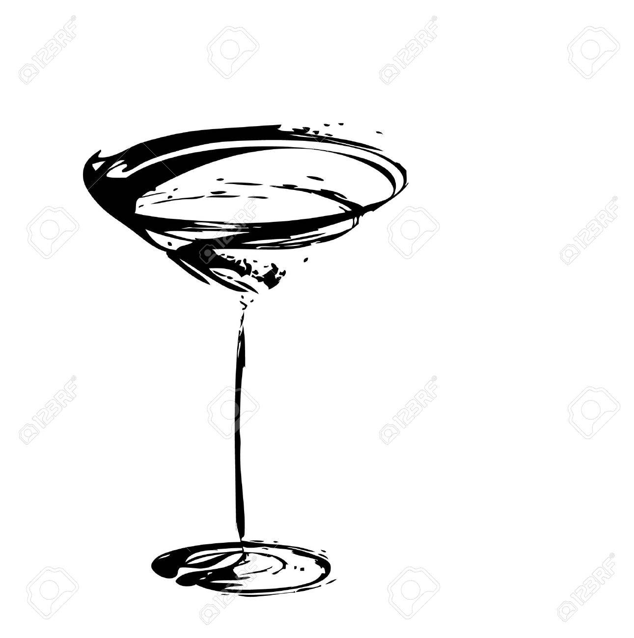 stylized wine glass for fault Stock Vector - 5702965