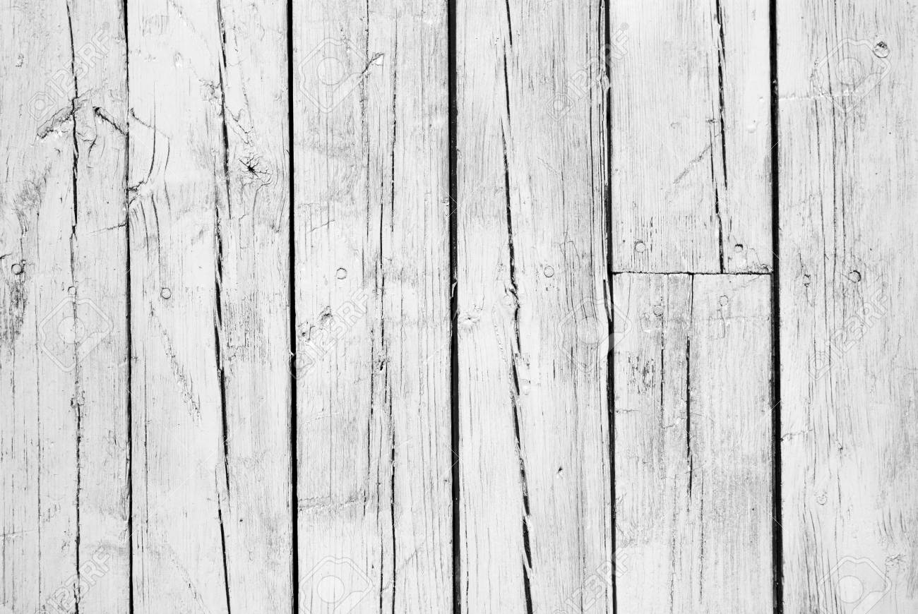 old background of  weathered white painted wood Stock Photo - 7350074