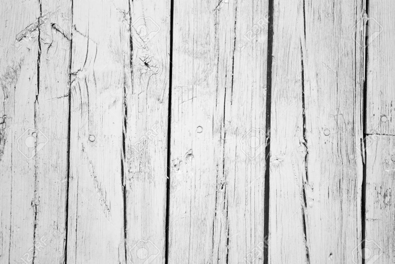 old background of  weathered white painted wood Stock Photo - 7369451