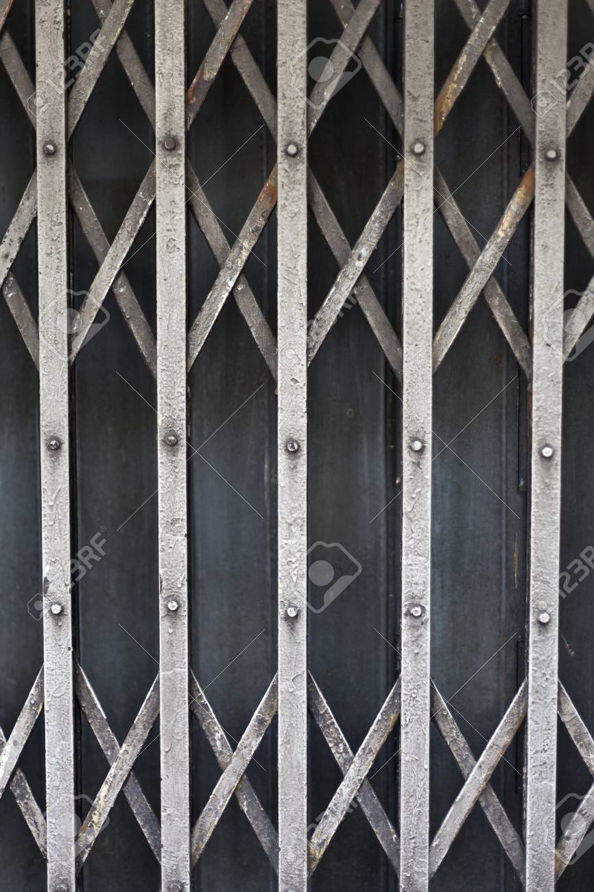 Rusty old corrugated iron fence close up. Stock Photo - 12046312