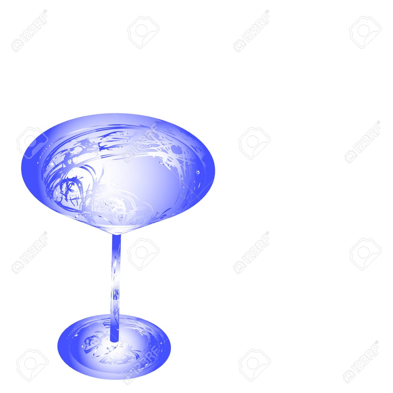 The beautiful stylized wine glass for fault Stock Photo - 15639040