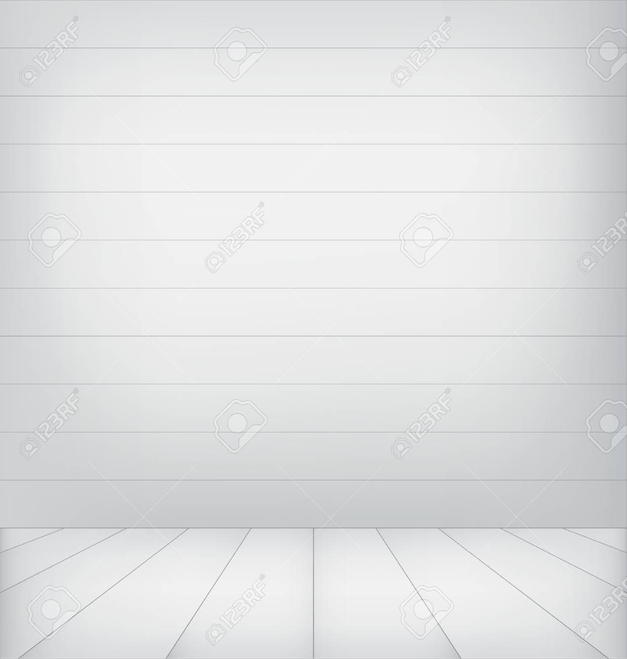 White wood interior Stock Vector - 17174636
