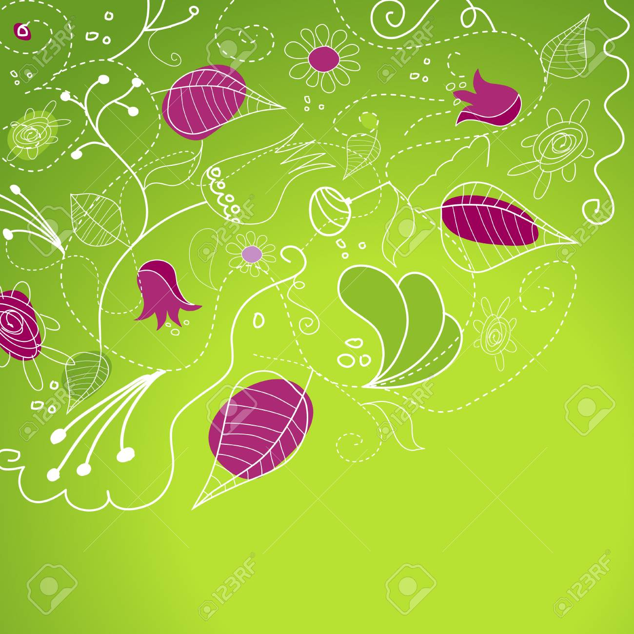 Illustration with flowers. Stock Vector - 6632786