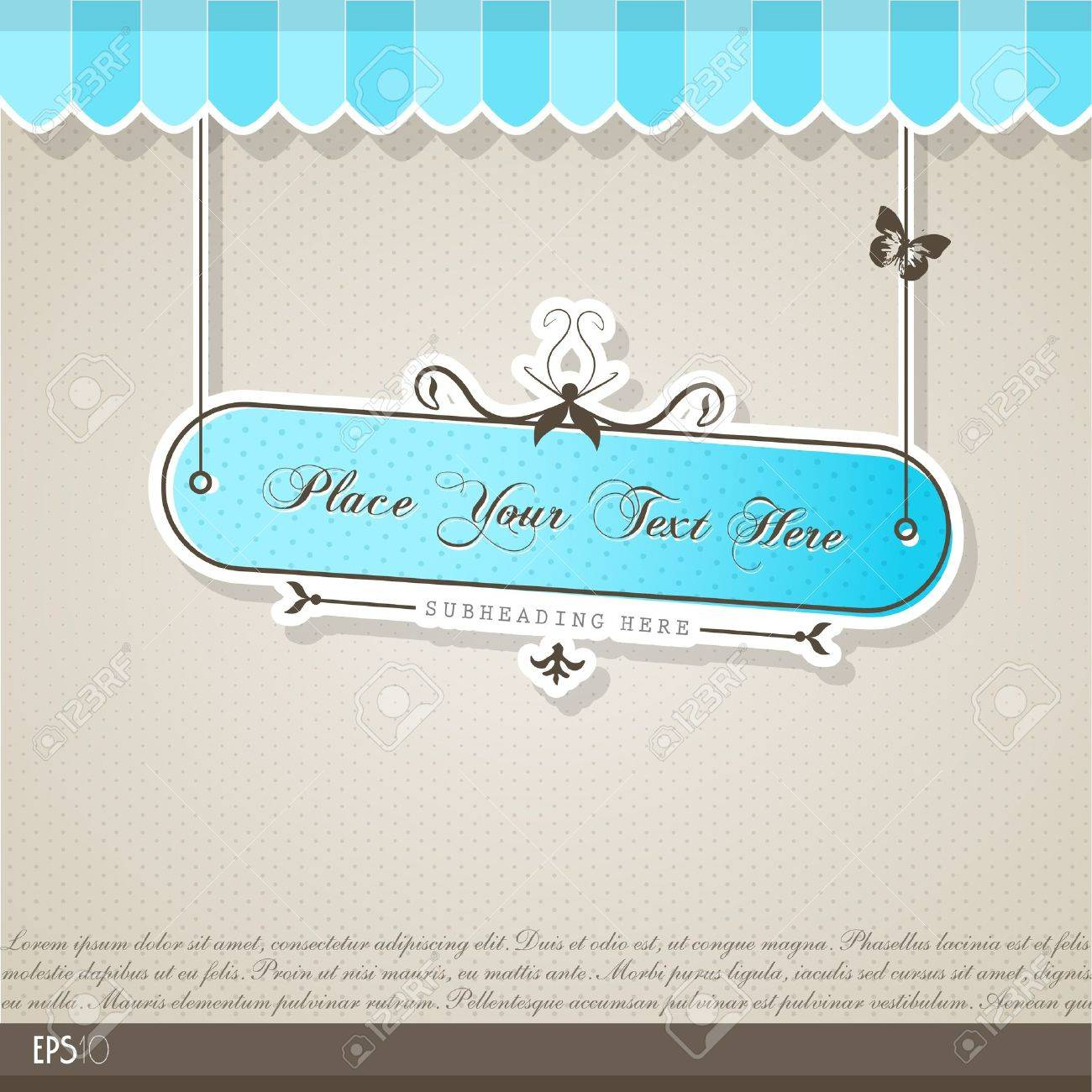 Vintage vector background with place for your text. Stock Vector - 10933878