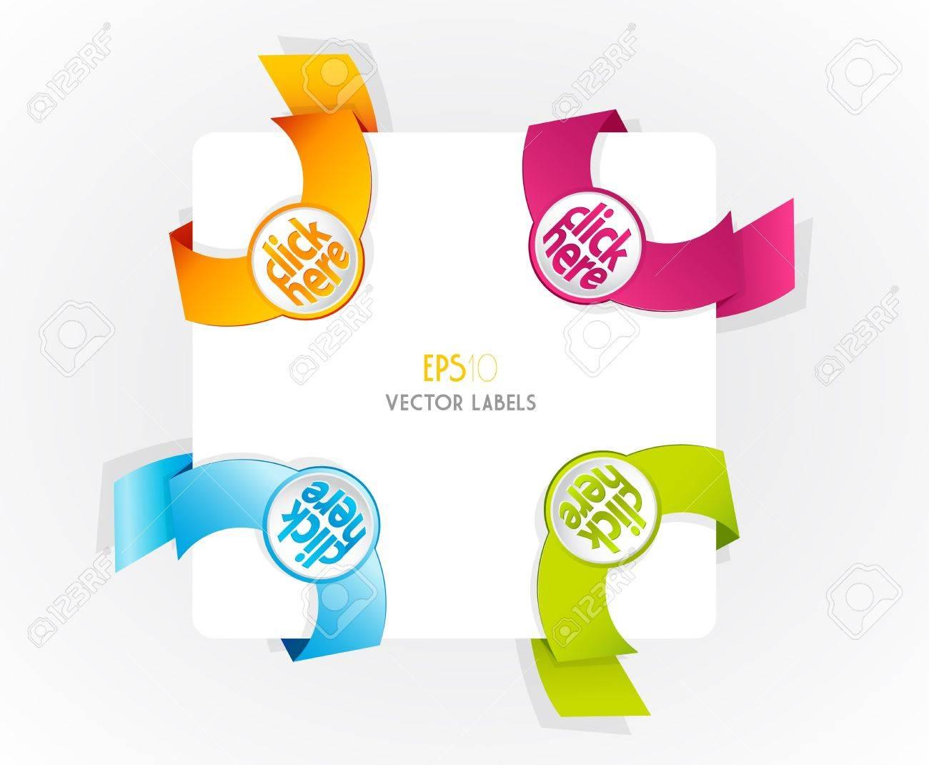 Color vector corner ribbons. Stock Vector - 13041064