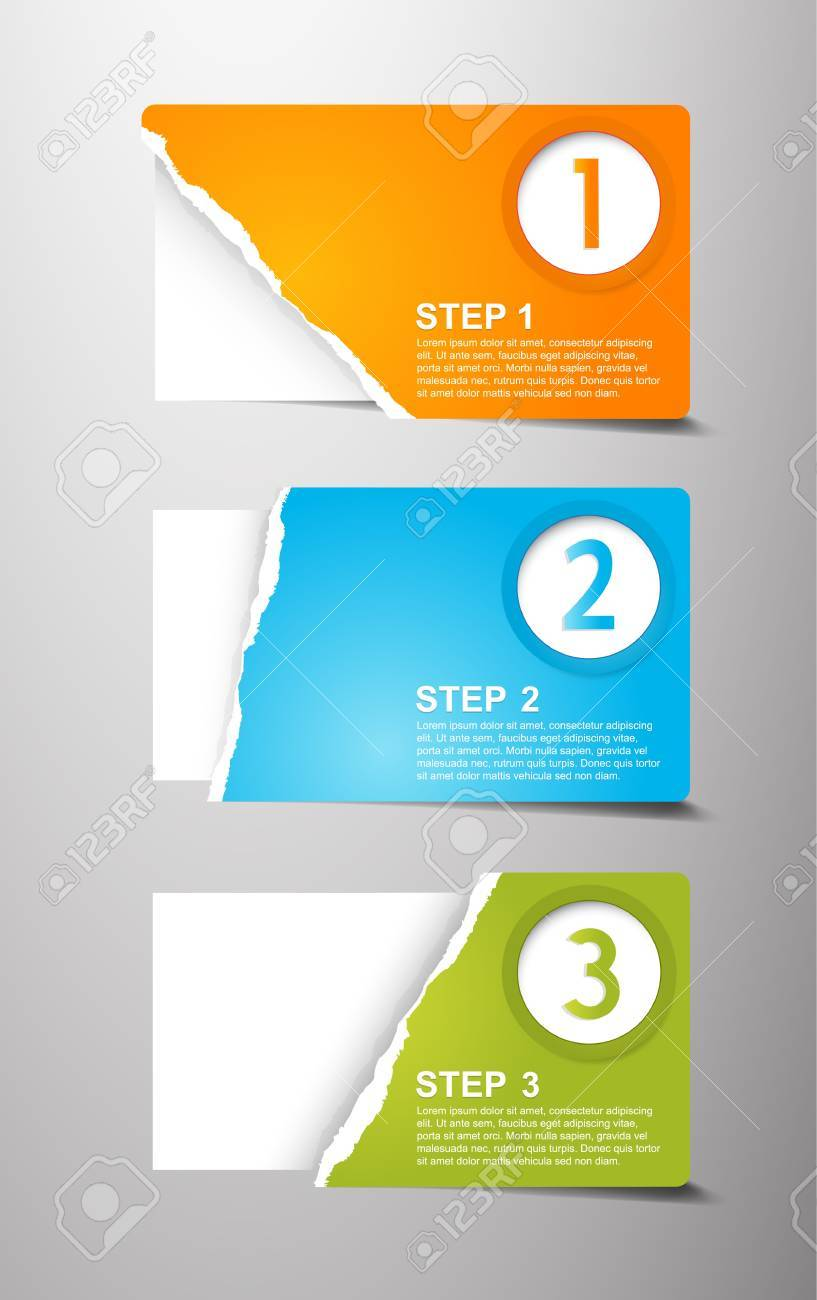 Set of teared card with place for your own text. - 15521896