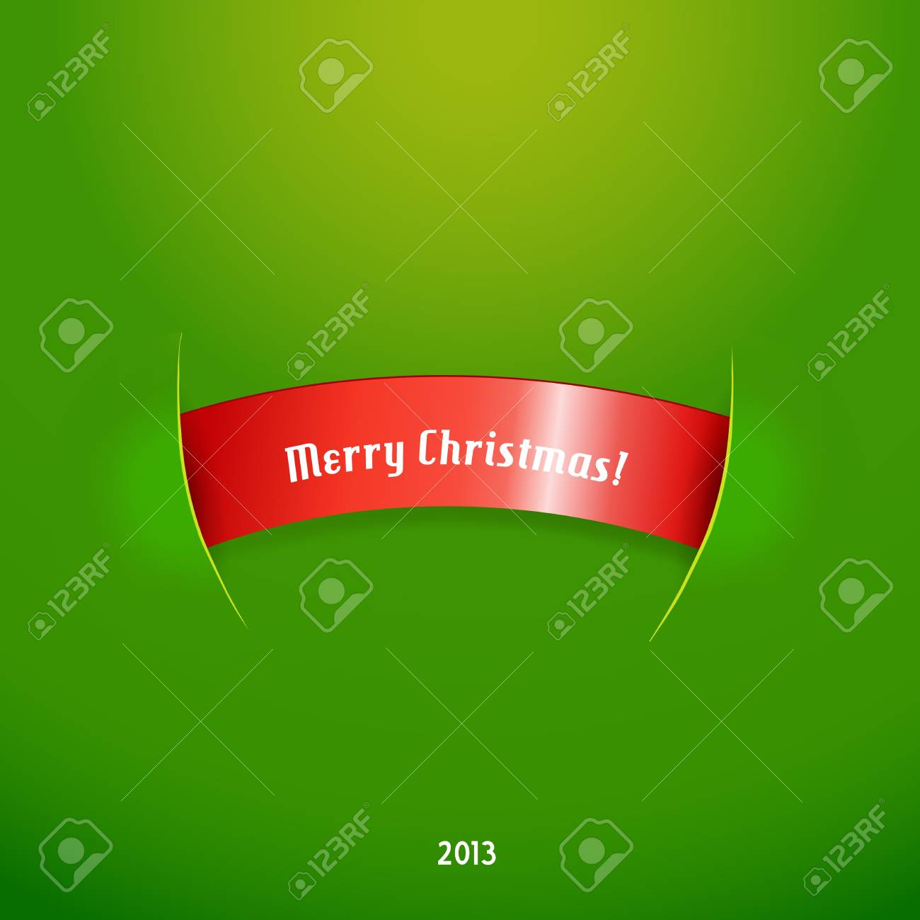 Red stripe with christmas text. Stock Vector - 17679970