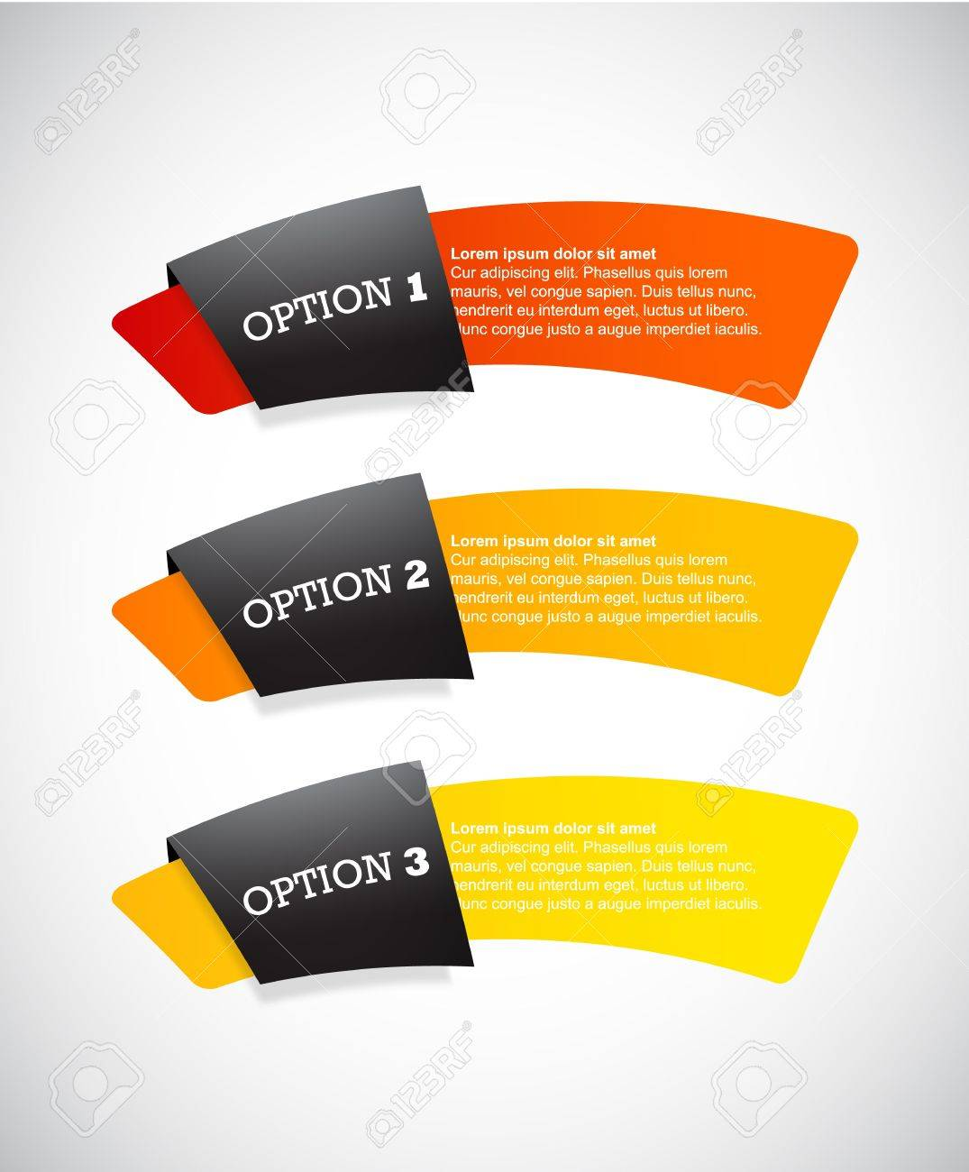 Set of paper labels with place for your own text. - 17680083