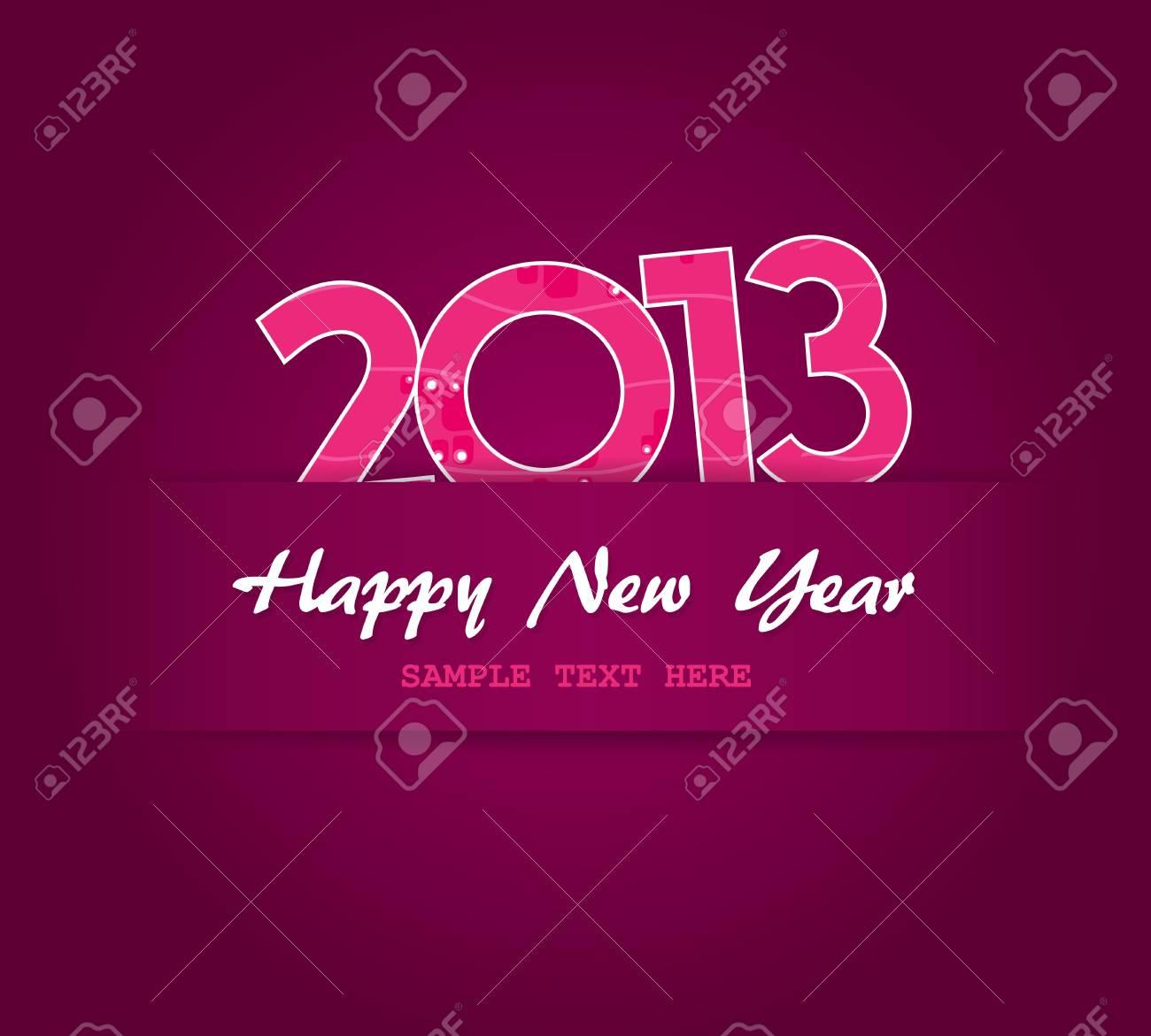Happy New Year card. Stock Vector - 17679949