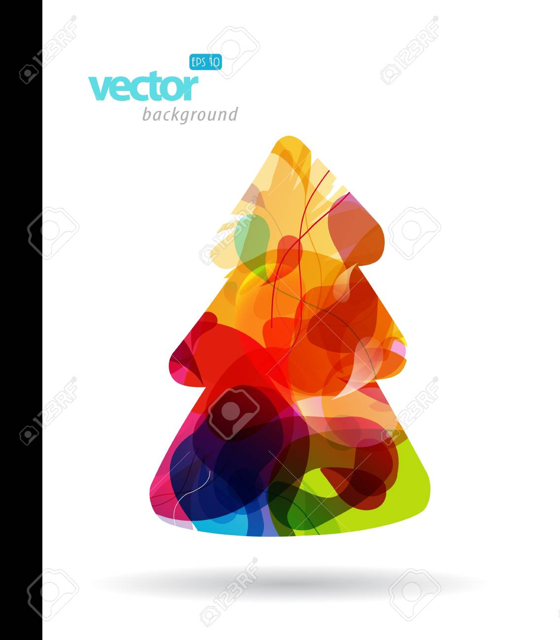 Christmas tree on white background. Stock Vector - 17680011
