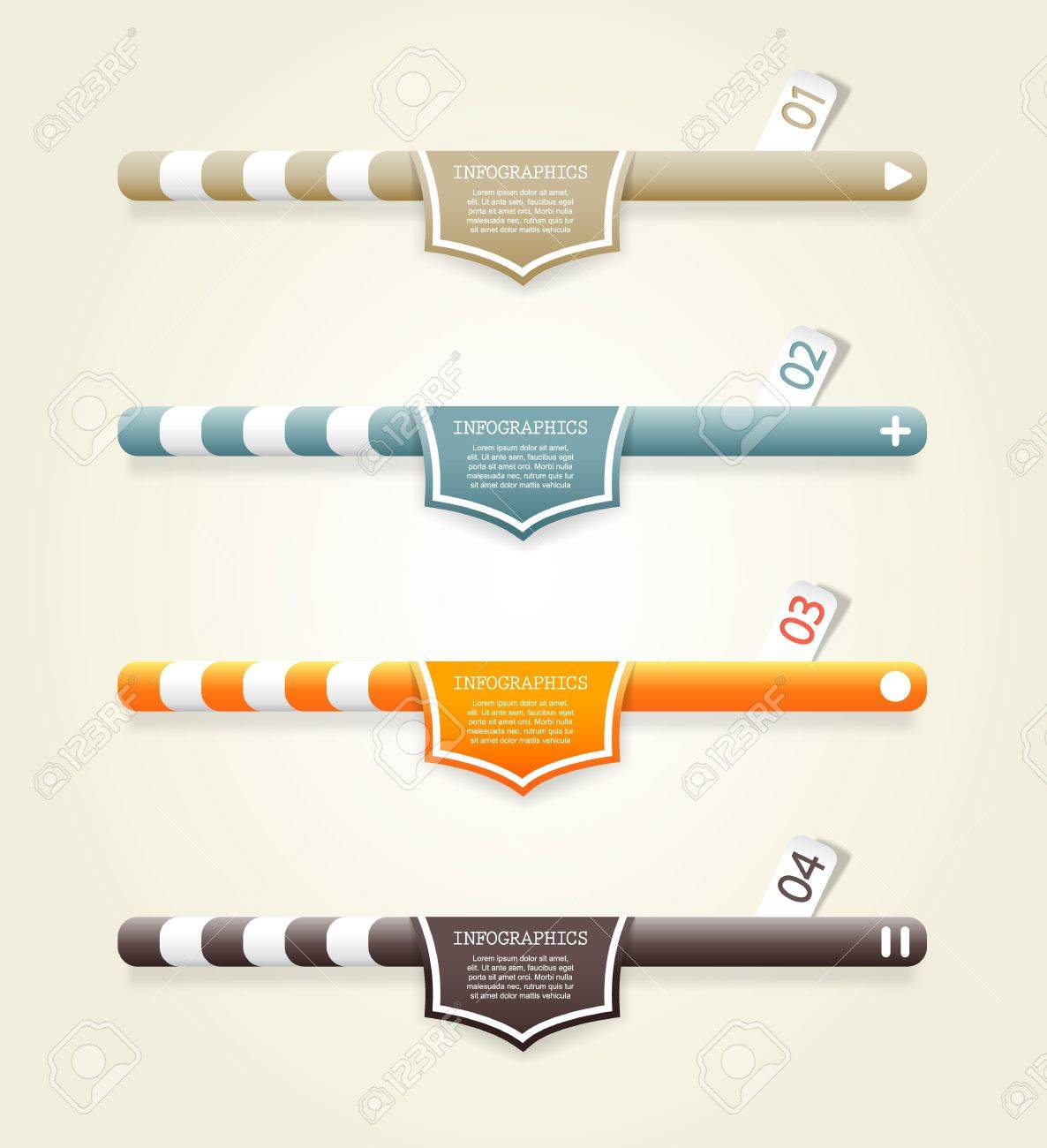 Four colored web banners with place for your own text. Stock Vector - 19108594