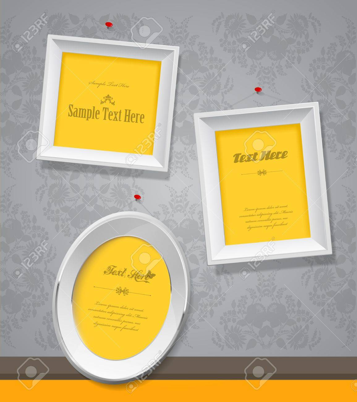 Set of empty picture frames for your own photographs. - 20216123