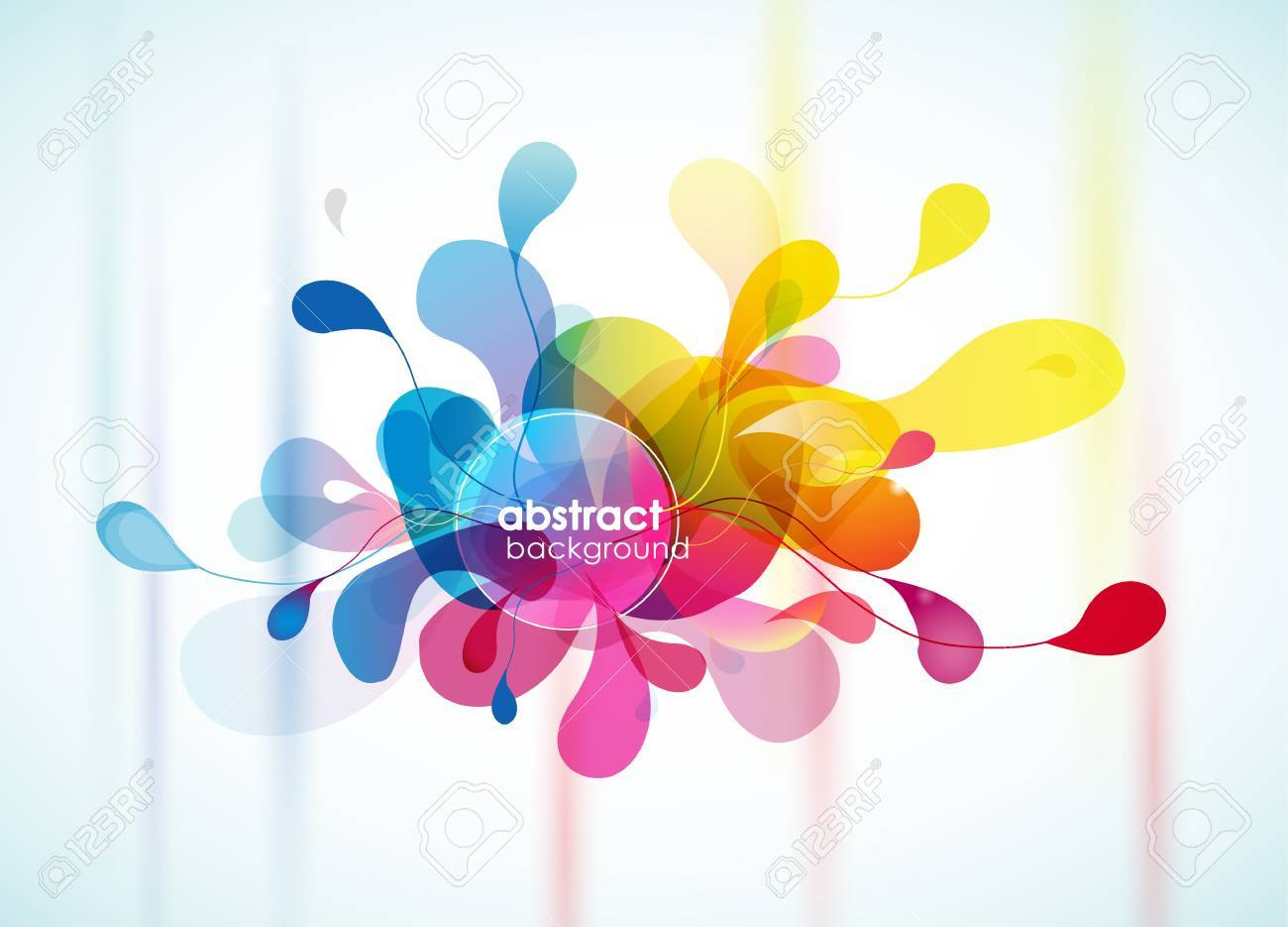Abstract colorful background reminding flower. - 20216112