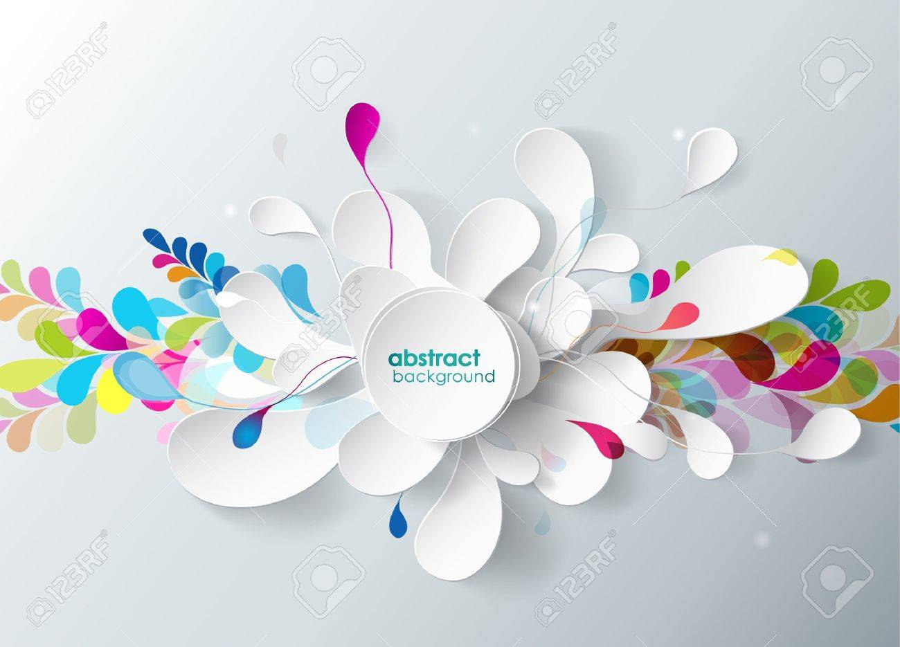 abstract background with paper flower. - 21942206