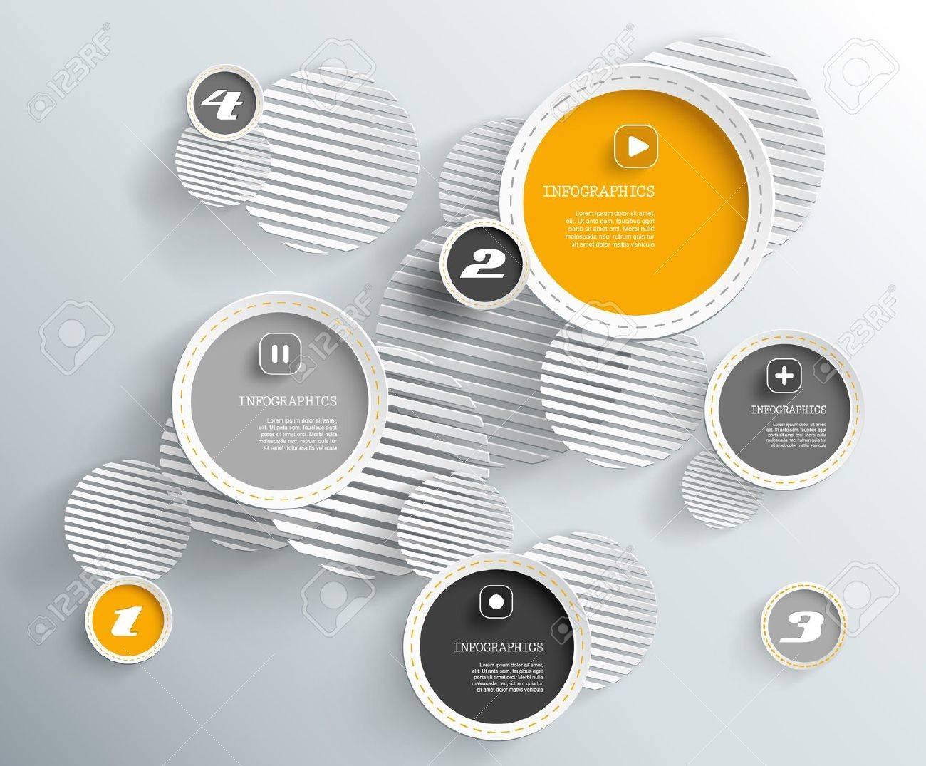3d circles with shadows Stock Vector - 21942754