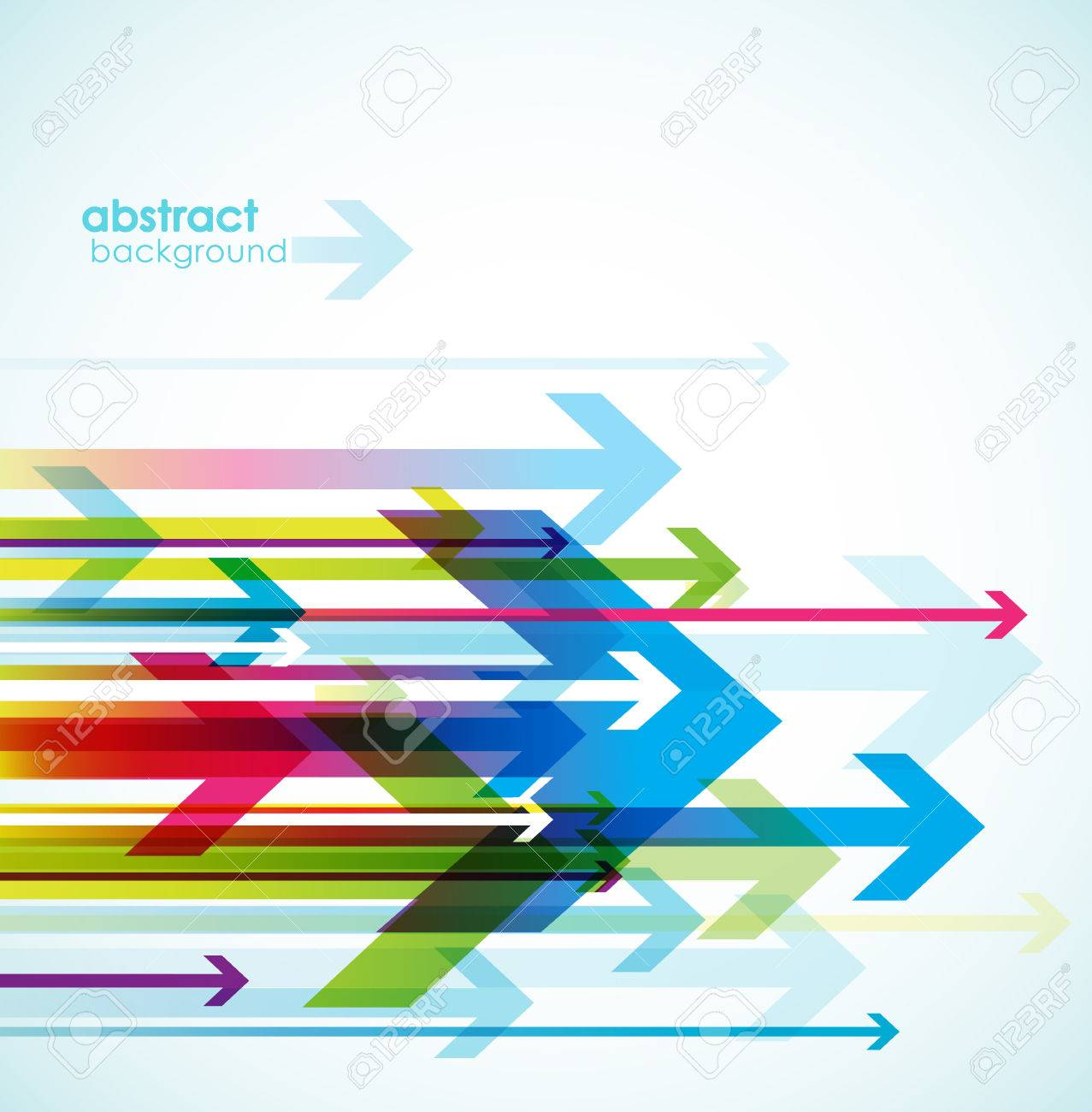 Abstract colored background with arrows. - 34371986