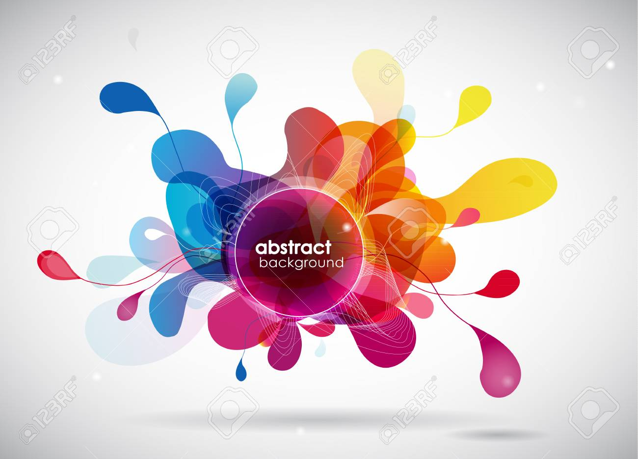 abstract colored background with circles. - 34372682