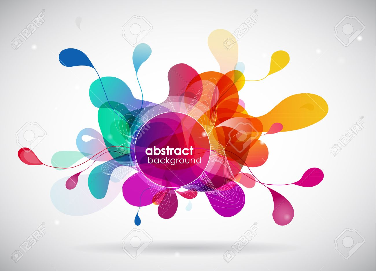 abstract colored background with circles. - 34401252