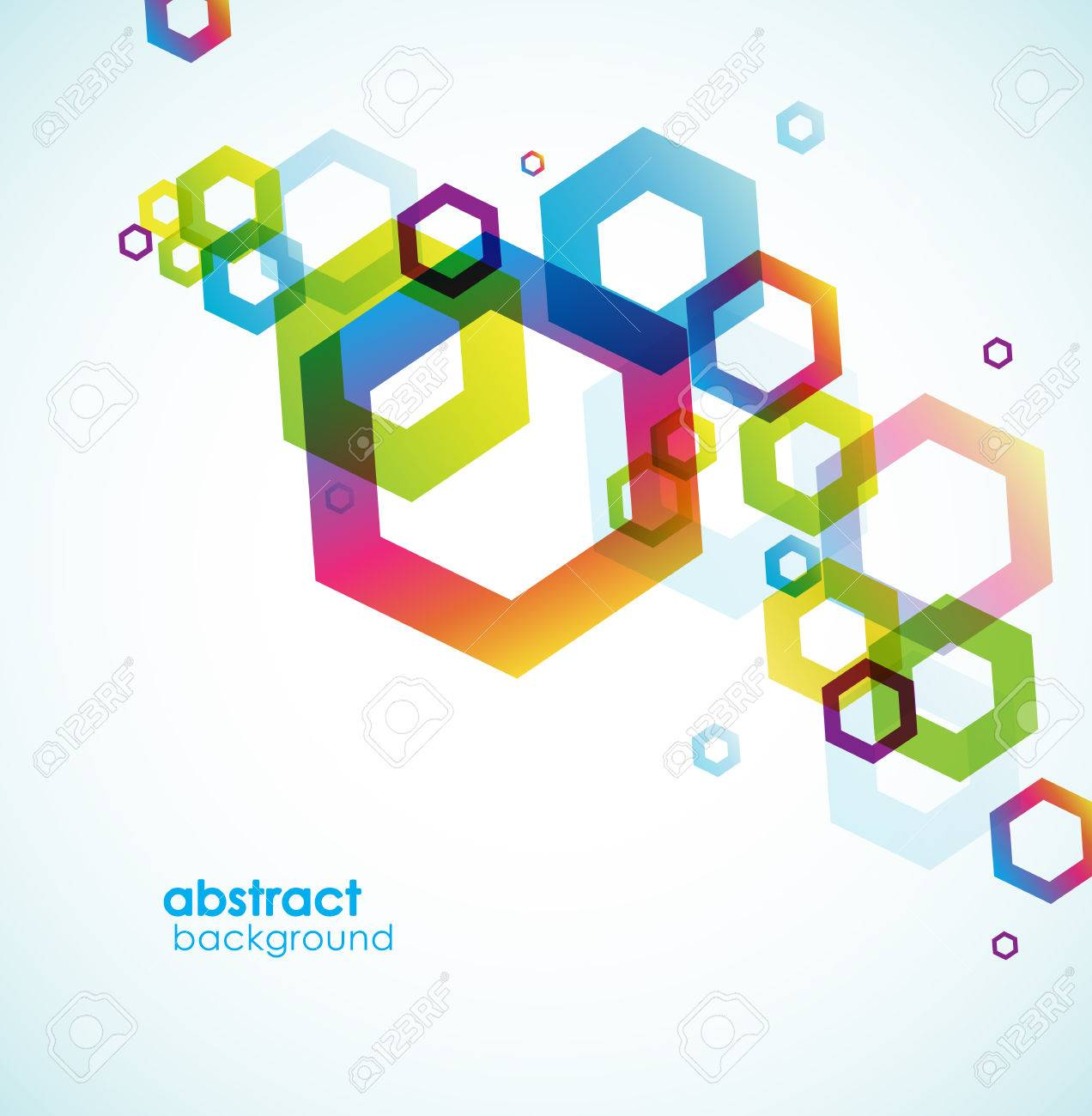 Abstract hexagon background with place for your text. - 62461583